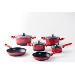 Mischler Cook Topf-Set Topf-Set Aluminium/Edelstahl 10-tlg, Aluminium, (10-tlg)