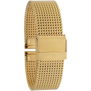 Eichmüller massives 20mm BandOh Edelstahl Milanaise Uhren Armband PVD-vergoldet