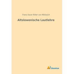 Altslowenische Lautlehre als Buch von