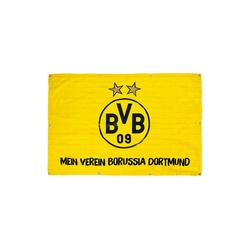 Balkonfahne BVB, Mein Verein Borussia Dortmund, 100 x 150 cm gelb 100 x 150