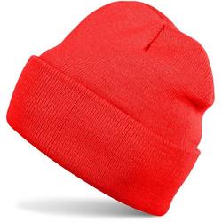 styleBREAKER Strickmütze Kinder Strickmütze mit Krempe rot