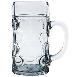 Stölzle-Oberglas Bierkrug Isar, Glas, Maßkrug Bierseidel Bierkrug Bierglas 1.265 Liter mit Füllstrich bei 1l Glas transparent 6 Stück
