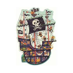 DJECO Puzzle Riesen-Puzzle Piratenschiff, 36 Teile, Puzzleteile