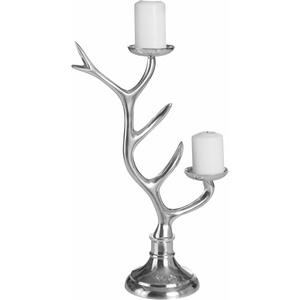 Home affaire Kerzenhalter Geweih silberfarben Deko-Objekte Figuren Skulpturen Wohnaccessoires