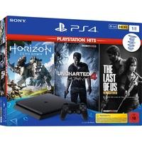 Sony PS4 Slim 1TB schwarz + Uncharted 4 + The Last of Us + Horizon Zero Dawn