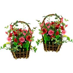 Kunstpflanze Wildrosen, I.GE.A., Höhe 25 cm rosa