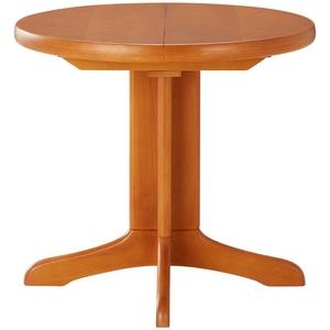 Runder Säulentisch ausziehbar ¦ holzfarben ¦ Maße (cm): H: 74  Ø: [85.0] » Möbel Kraft