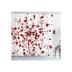 Abakuhaus Duschvorhang Moderner Digitaldruck mit 12 Haken auf Stoff Wasser Resistent Breite 175 cm, Höhe 180 cm, Blutig Blutspritzer Scary 175 cm x 180 cm