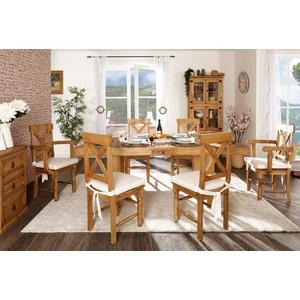 Esstisch - ausziehbar - original Mexico Möbel - Massivholz - Pinie - Landhausstil - 140x90