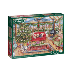 Falcon Puzzle 11275 Debbie Cook Weihnachtskonservatorium, 1000 Puzzleteile