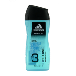 250ml Adidas Duschgel Shower Gel 3in1 Ice Dive Marine Extract