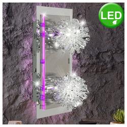 Esto Deckenleuchte, Deckenleuchte Wandlampe Deckenlampe Wandleuchte LED lila Kristallglas SAPHIR 990013-2