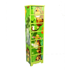 Homestyle4u Kommode, Kinderkommode Dschungel grün 23 cm x 86 cm x 18 cm