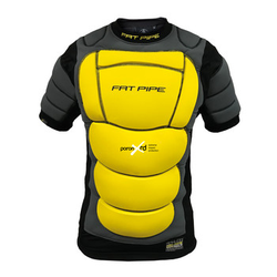Fat Pipe GK-PROTECTIVE SHIRT WITH XRD PADDING M/L, grau / gelb