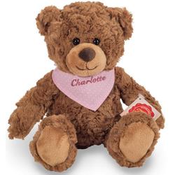 Teddy Hermann® Kuscheltier Teddy braun mit rosa Halstuch, 30 cm, mit individueller Bestickung