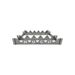 GRILLHUGO Grillrost, Grillaufsatz - 6-teiliges Edelstahl Stecksystem