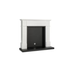 Klarstein Elektrokamin Biel Kamingehäuse elegantes Design MDF weiß
