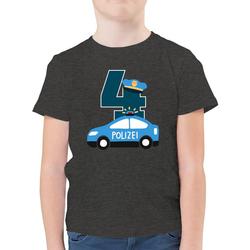 Shirtracer T-Shirt Polizei Geburtstag 4 - Geburtstag Kind - Jungen Kinder T-Shirt - T-Shirts polizei tortendeko 164 (14/15 Jahre)