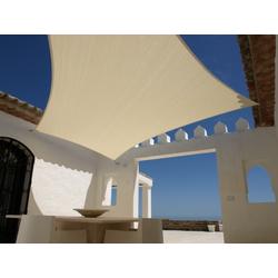 Sonnensegel 3,6m x 3,6m Quadratisch Sandfarben Sonnenschutz Windschutz