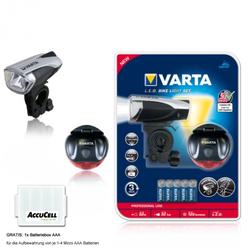 Varta Fahrrad Lichtset 3W mit Vorder- und Rücklichtstrahler