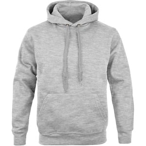 Premium Kapuzen Pullover grey heather, Größe L