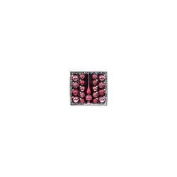 magic Weihnachtsbaumkugel 19-tlg. Glas-Weihnachtsbaumschmuck Set mit Spitze, rosa