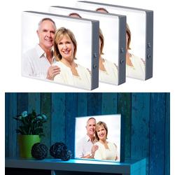 3er-Set LED-Leuchtkasten für Bilder auf Folie & Papier, DIN A4-Format