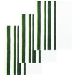 Lashuma Handtuch Set (Set, 3-tlg), Geschirrtücher Halbleinen, Küchentücher 50x70 cm grün