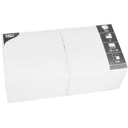 Servietten 33x33cm 3-lagig 1/4-Falz VE=250 Stück weiß