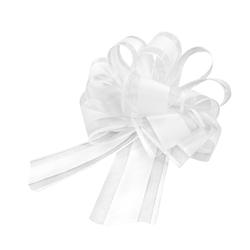 Geschenkschleife Deko Schleife für Geschenke Tüten Zuckertüte Weihnachten Geschenkdeko - weiß