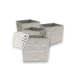 HTI-Line Aufbewahrungsbox Aufbewahrungsbox Paloma 4er Set mit Buchstaben, Aufbewahrungsbox