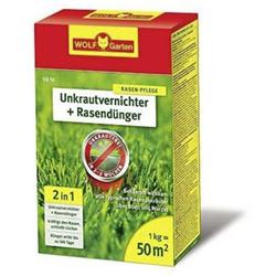 Wolf Garten 3840710 SQ50 2 in 1 Unkrautvernichter plus Rasendünger