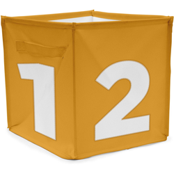 ACHOKA® Aufbewahrungsbox Aufbewahrungsbox Würfel - rot gelb
