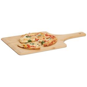 relaxdays Pizzaschieber Pizzaschieber XL Bambus