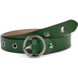 styleBREAKER Ledergürtel Leder Gürtel mit Lochnieten Leder Gürtel mit Lochnieten grün 80cm