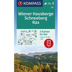 Wiener Hausberge Schneeberg Rax 1:25 000