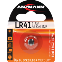 Ansmann Alkaline Knopfzelle LR41 / LR736 / AG3,