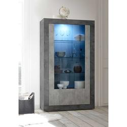 Esszimmervitrine in Beton Grau 110 cm breit
