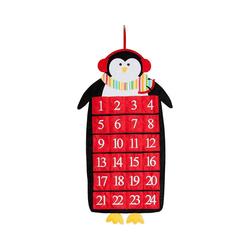 Hotex Wandkalender Adventskalender Pinguin 39 x 71 cm