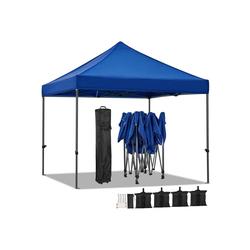 Yaheetech Faltpavillon, Pavillon 3x3m Gartenzelt wasserdicht Festzelt Pop-up Zelt 442g/m² UV-Schutz 50+ Partyzelt für Garten, Terrasse, Markt