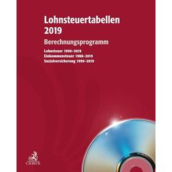 Lohnsteuertabellen 2019 - Berechnungsprogramm 1 CD-ROM