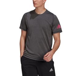 Adidas Herren M FRL ULT Ht T Unterhemd - black melange/pink