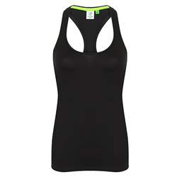 Damen Racerback Shirt | Tombo black XL