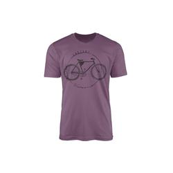 Sinus Art T-Shirt Vintage Herren T-Shirt Fahrrad lila L