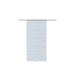 HOMCOM Schiebetür Glasschiebetür mit Streifen