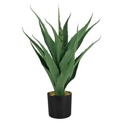 Kunstpflanze Aloe Vera Kunstpflanze Plastikpflanze Künstliche Pflanze 55 cm Decovego, Decovego