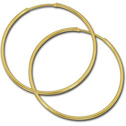 GoldDream Paar Creolen D2GDOB00144K GoldDream Echtgold Ohrringe Creolen (Creolen), Damen Creolen Ohrring aus 333 Gelbgold - 8 Karat, Ø 44mm