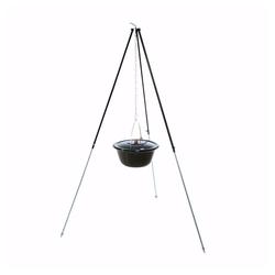 acerto® Feuerstelle acerto® Gulaschkessel 14L + Dreibein-Gestell (180cm)