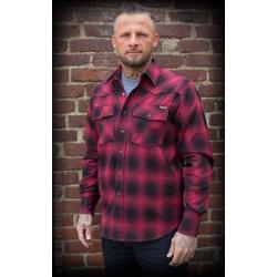 Rumble59 Shadow Plaid Shirt Karohemd, rot/schwarz