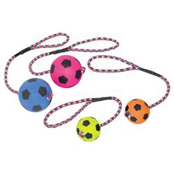 Nobby Moosgummi Fußball mit Seil, Maße: 6,3 cm